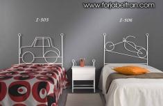 Dormitorios Infantiles : Cabeceros infantiles mod. COCHE y MOTO