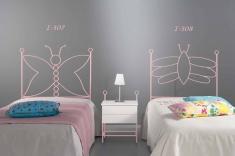 Dormitorios Infantiles : Cabeceros infantiles mod. MARIPOSA IND y ABEJA