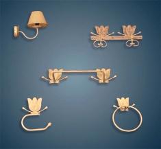 Conjunto accesorios cuarto de ba�o Mod. TULIPAN