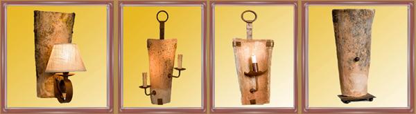 Forja beltran decoracion muebles de forja camas forja - Apliques de luz rusticos ...